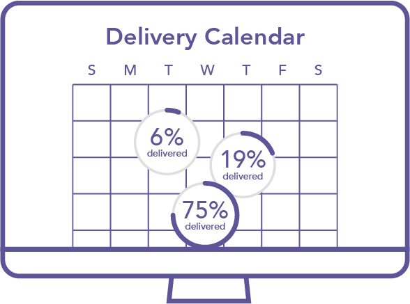 Mail Tracking Delivery Calendar