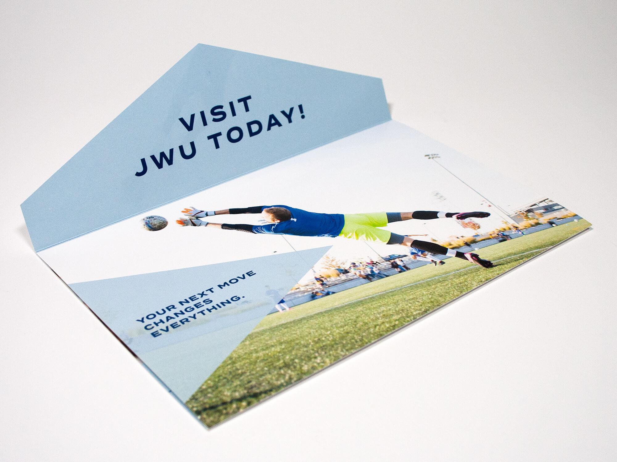 JWU Die-Cut Self-Mailer
