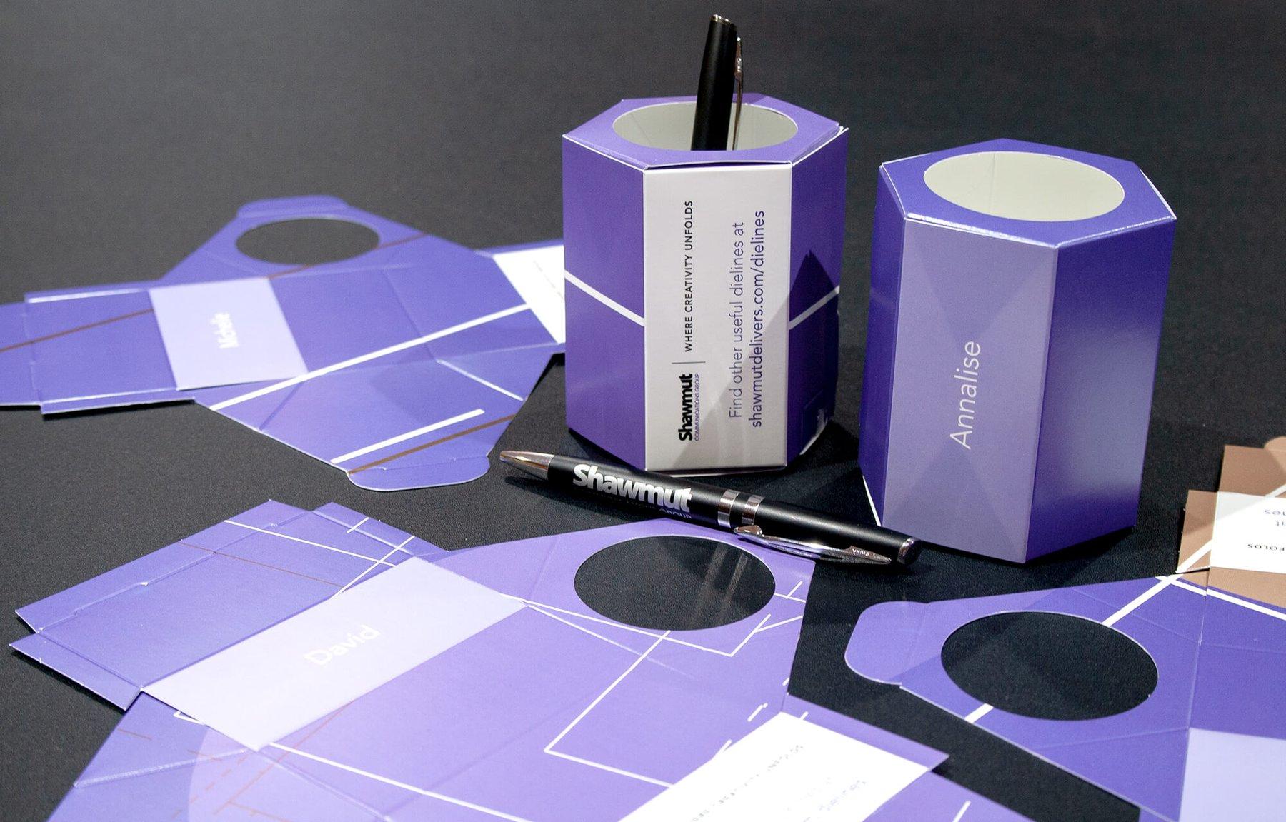 Shawmut personalized die-cut pencil cup