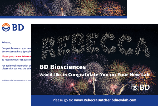 BD Biosciences Postcard featuring a pURL