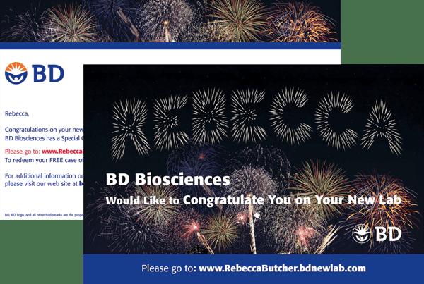 BD Biosciences Postcard featuring a pURL