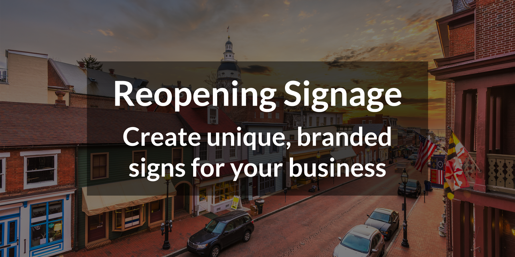Reopening Signage: Create unique, branded signs for your business